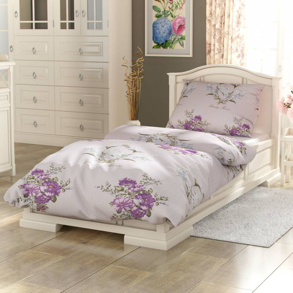 Kvalitex Bavlnené obliečky Provence Beatrice fialová, 140 x 200 cm, 70 x 90 cm
