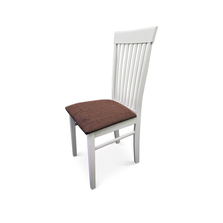 Jedálenská stolička Astro biela + hnedá