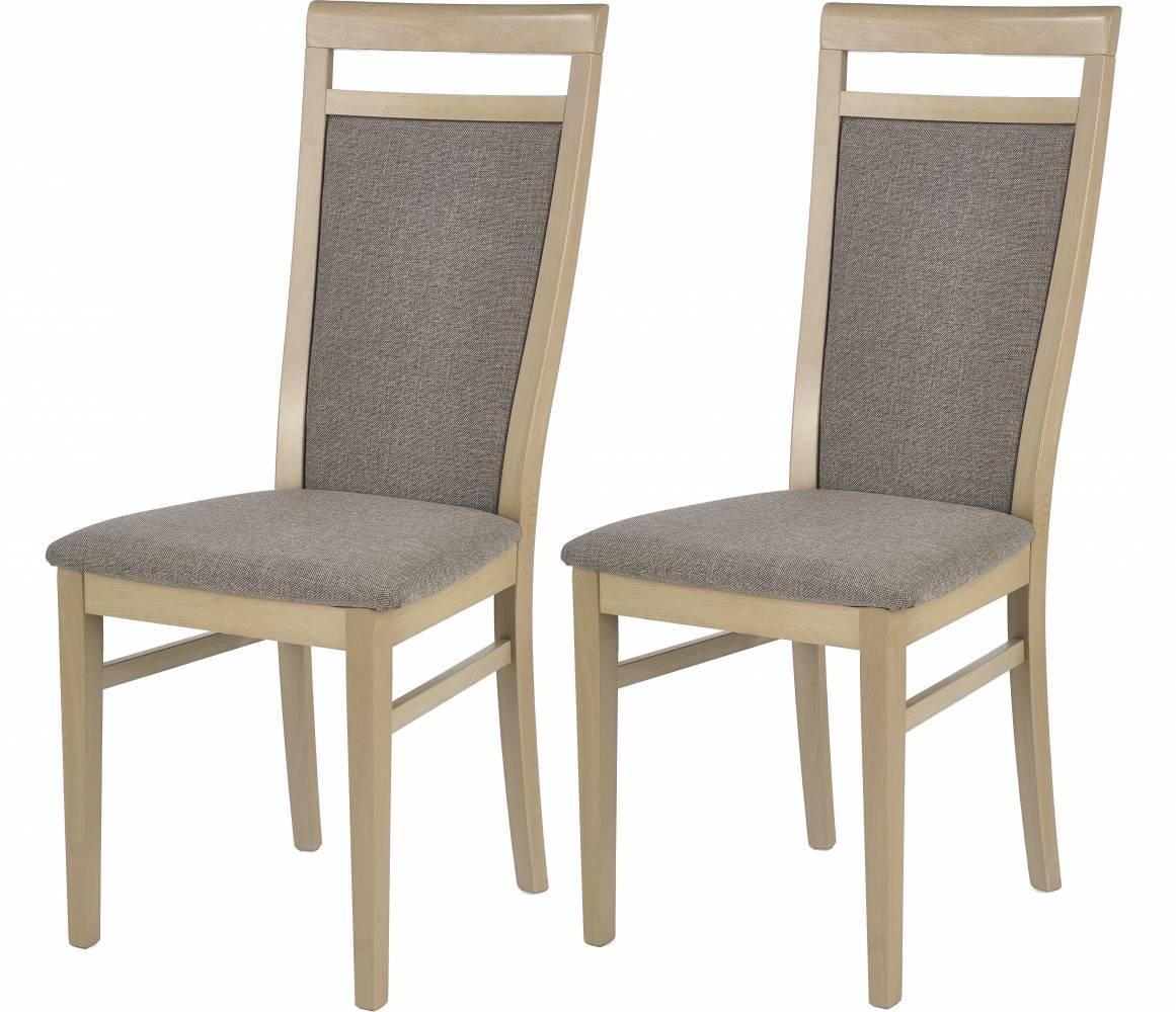Set 2ks. jedálenských stoličiek Damian (dub sonoma + béžová) *výpredaj