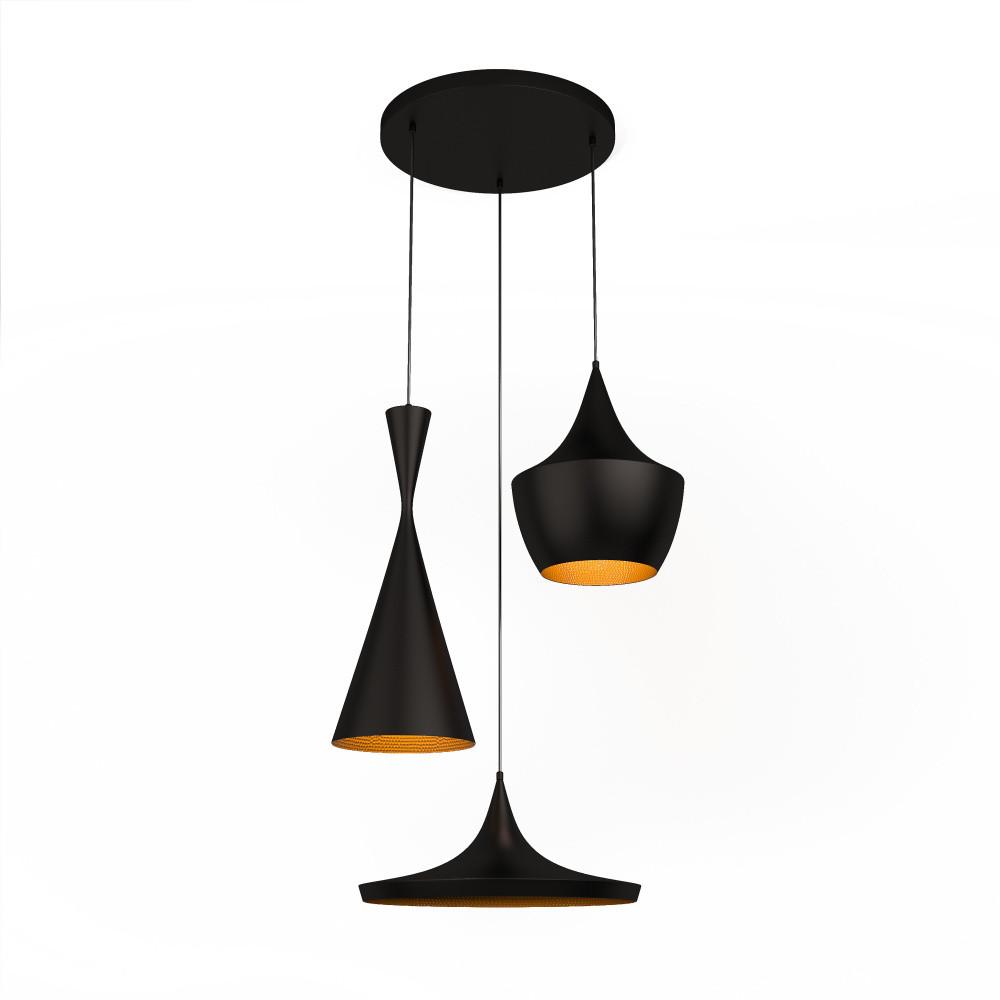 Čierne stropné svietidlo Cassley