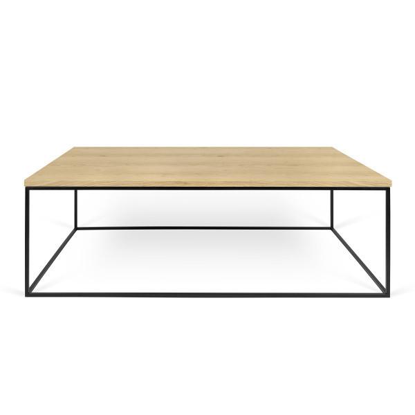 Konferenčný stolík s čiernymi nohami TemaHome Gleam, 120cm