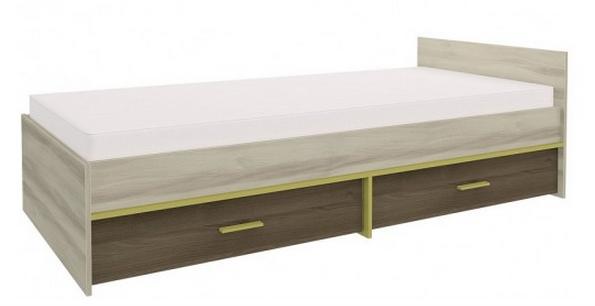Detská posteľ GEOMETRIC 07 / BREST / AGÁT   Farba: Olivová