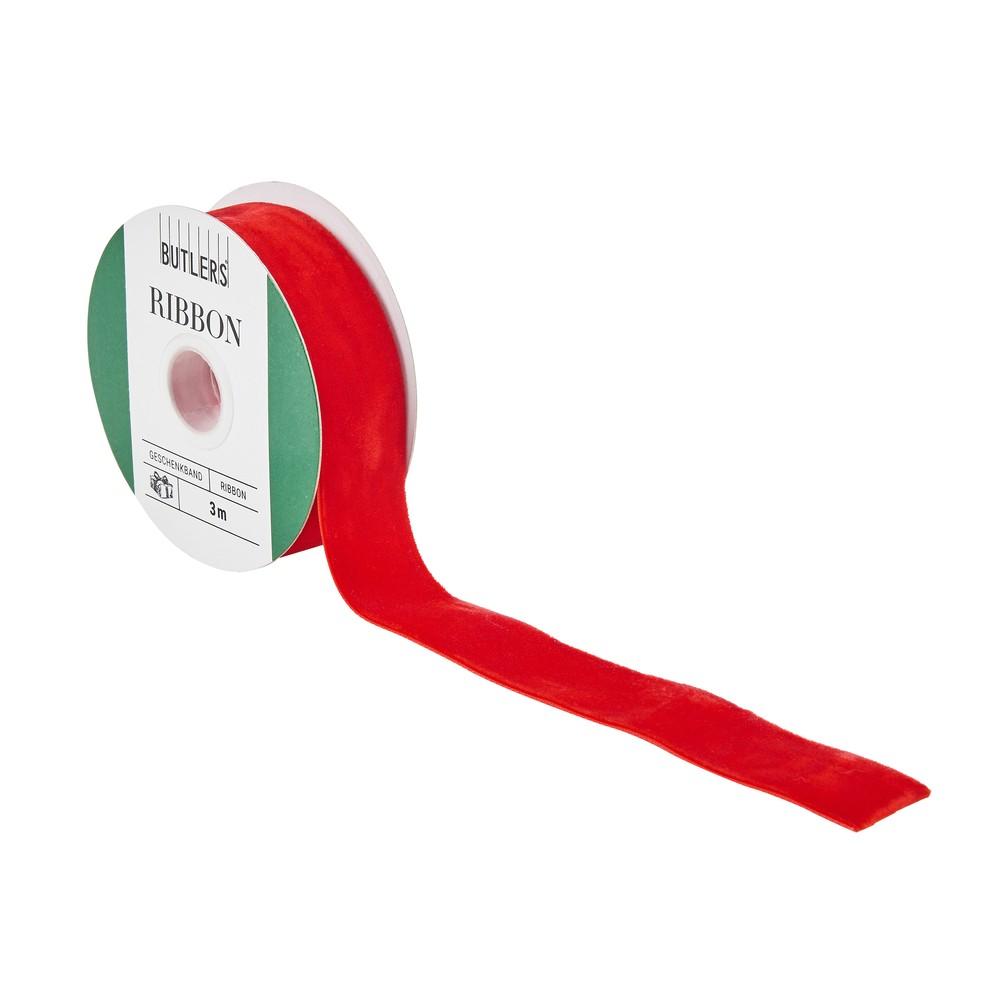 Červená darčeková stuha Butlers, dĺžka 3 m