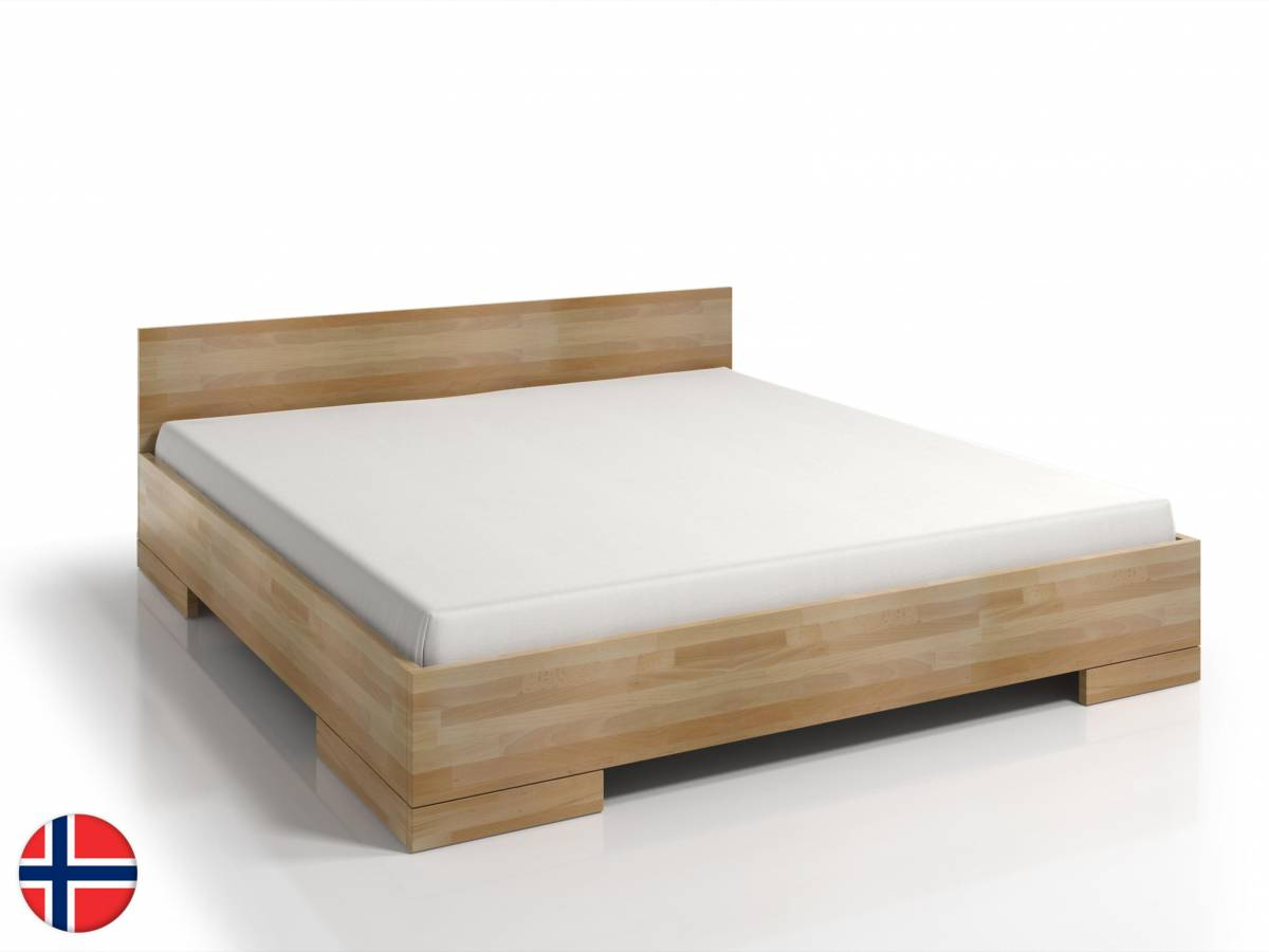 Manželská posteľ 140 cm Naturlig Stalander Maxi ST (buk) (s roštom a úl. priestorom)