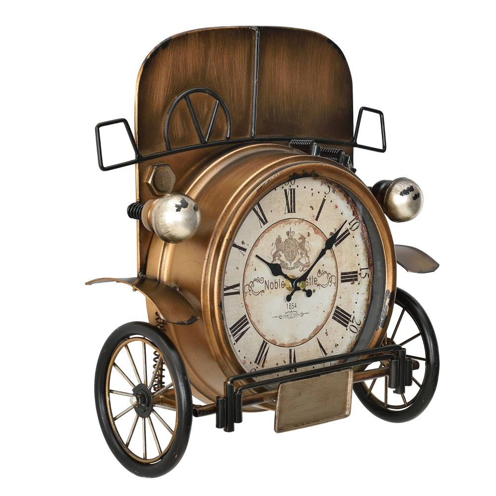 [en.casa]® Nástenné hodiny Oldtimer auto - analógové - 33 x 13 x 36 cm - farebné - sklo