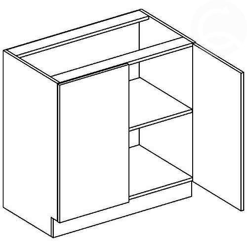D80 dolná skrinka dvojdverová vhodná ku kuchyni FALA