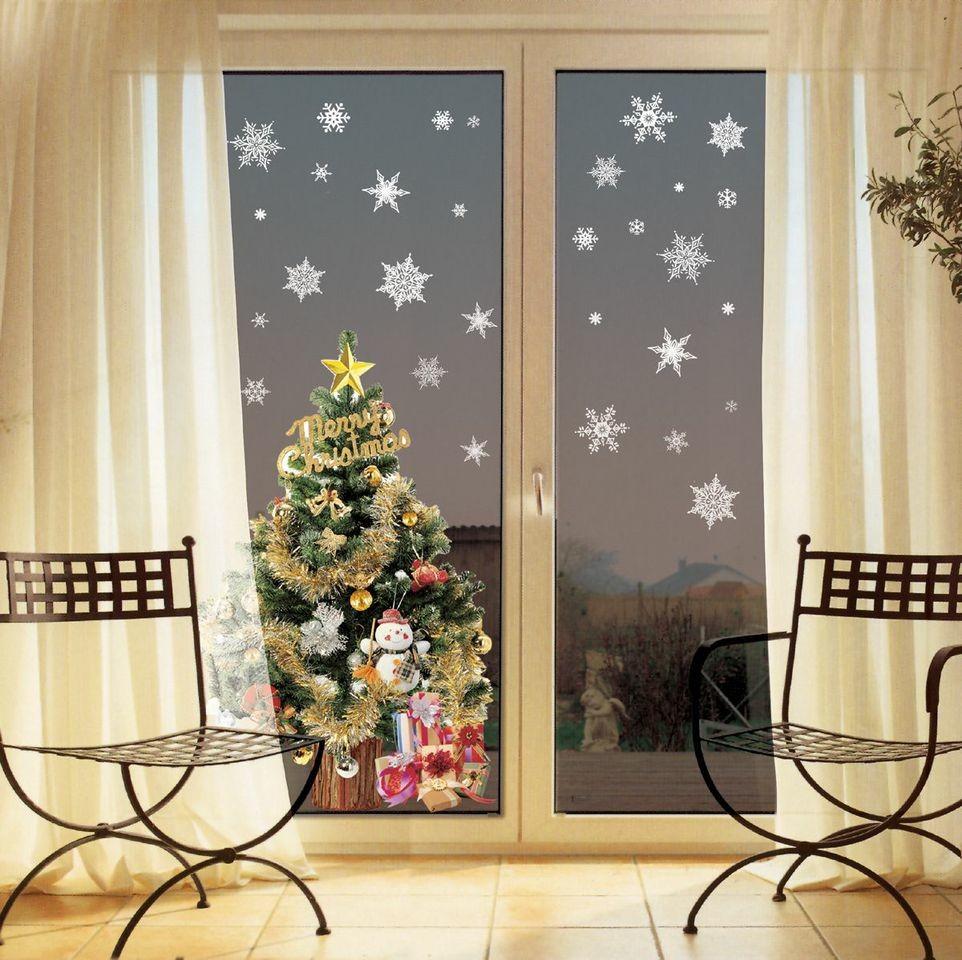 Samolepka Fanastick Christmas White Flakes, 30 kusov