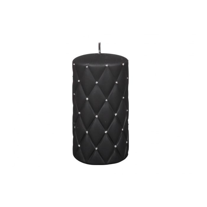 Dekoratívna sviečka Florencia čierna, 14 cm
