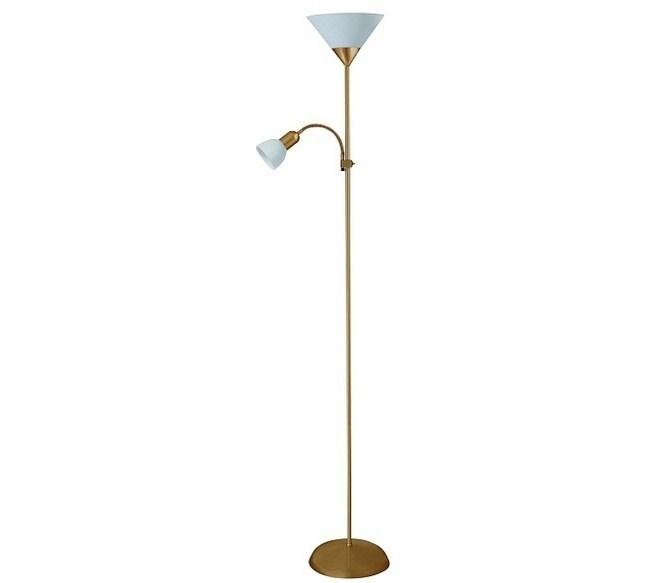 Stojaca lampa Rabalux Action 4065 matný chróm / biela
