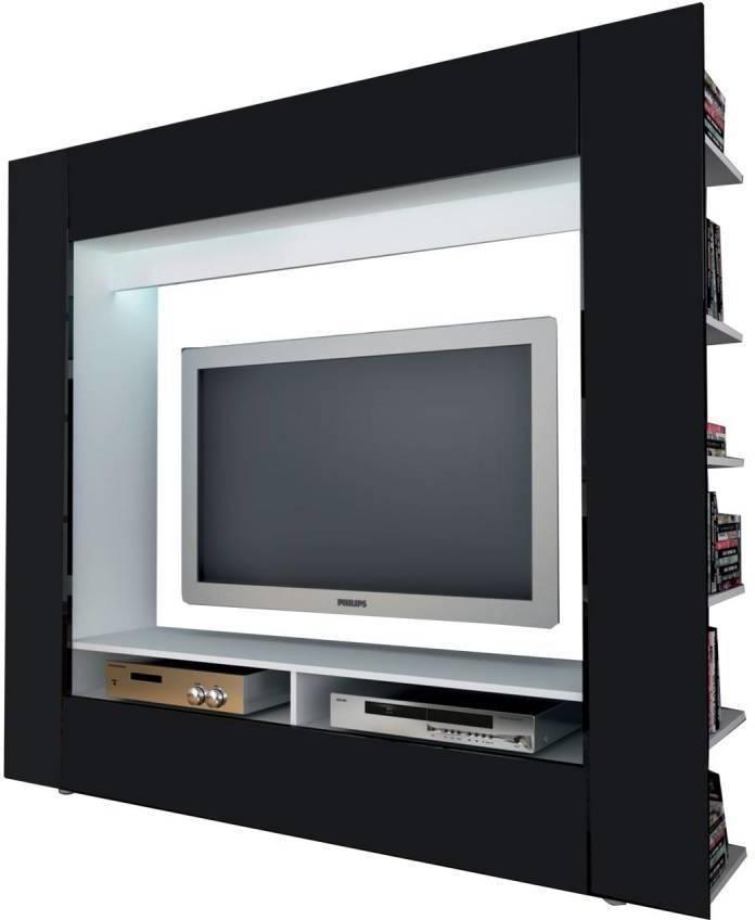 Televízna stena OLLI biela / lesklá čierna