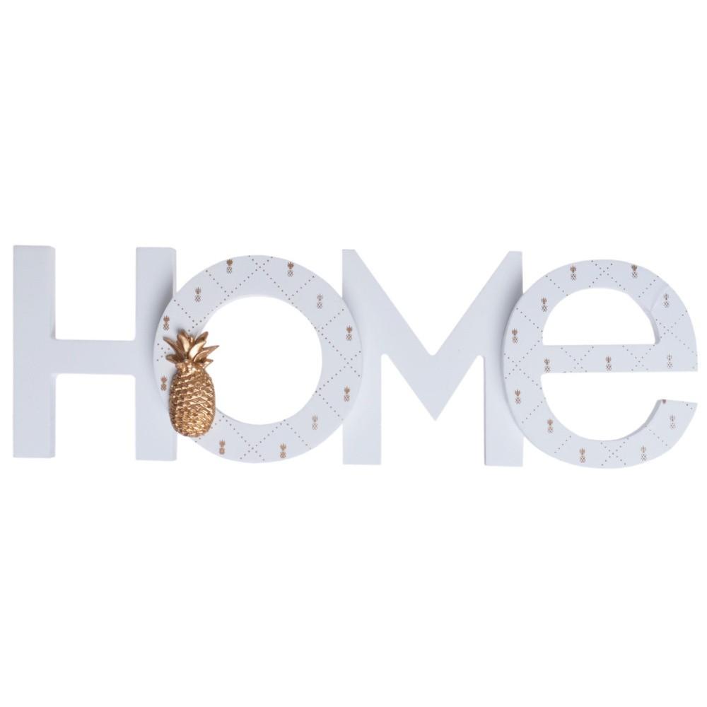 Drevený dekoratívny nápis Ewax Home Ananas