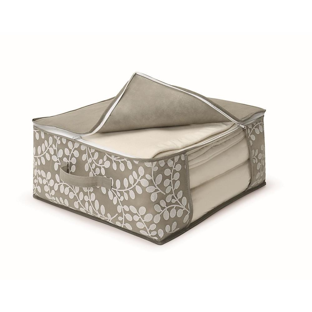 Hnedý uložný box na prikrývky Cosatto Floral, 45 x 45 cm