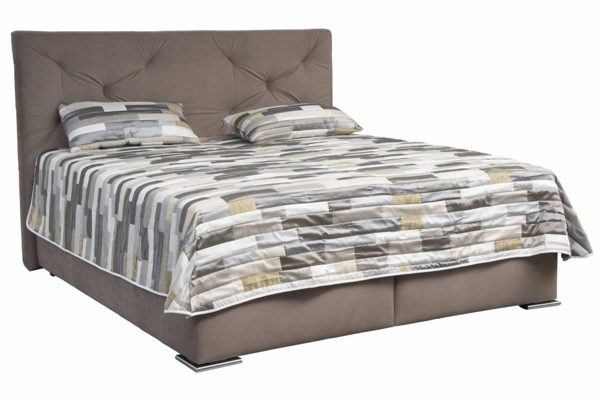 Manželská posteľ 180 cm Blanár Chicago (hnedá) (s roštom a matracom NELLY PLUS)