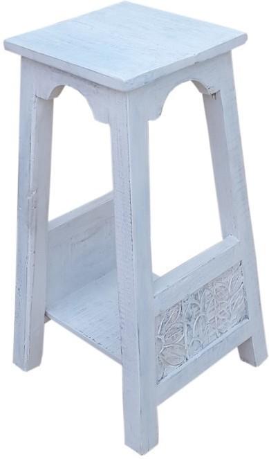 Stolík na kvety HARBOR 60 cm - biela
