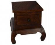 Furniture nábytok  Masívny nočný stolík s 1 zásuvkou z Palisanderu  Mohan  45x35x45 cm