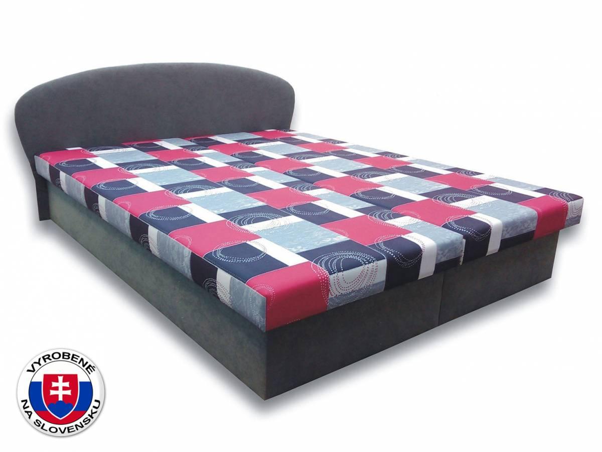 Manželská posteľ 180 cm Milka 1 (s penovými matracmi)