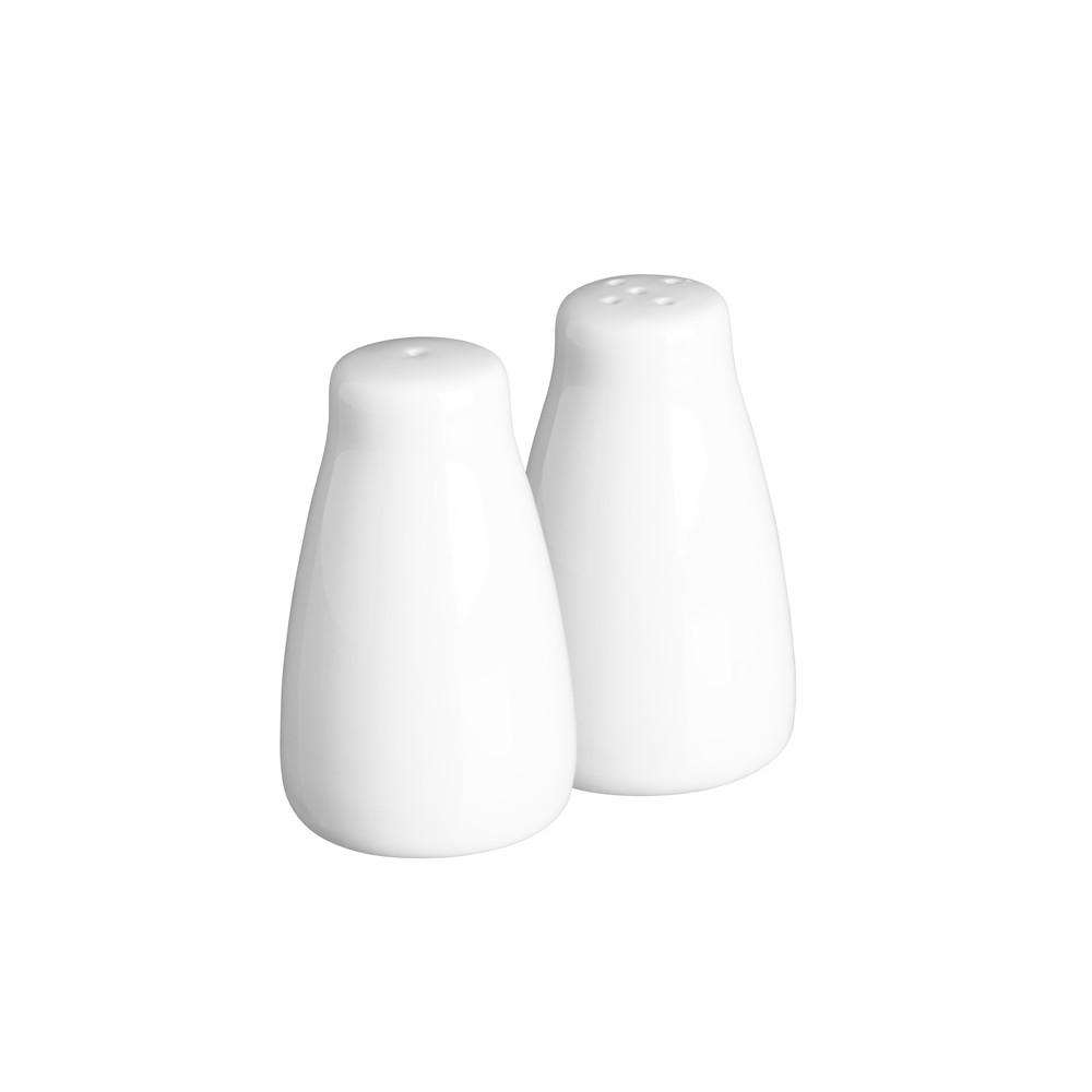 Biela soľnička a korenička Price & Kensington Simplicity