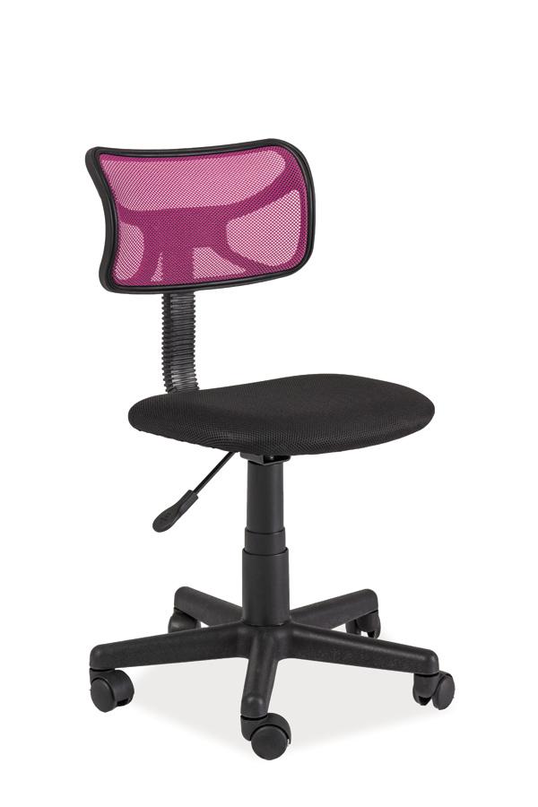 Kancelárske kreslo Q-014   Farba: čierna / ružová