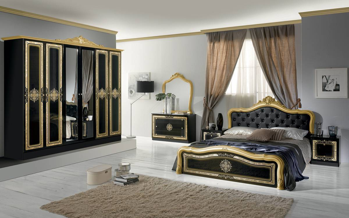 Spálňa LAISA - čierna,zlatá