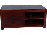 Furniture nábytok  Masívny TV stolík z Palisanderu  Imram  118x55x55 cm