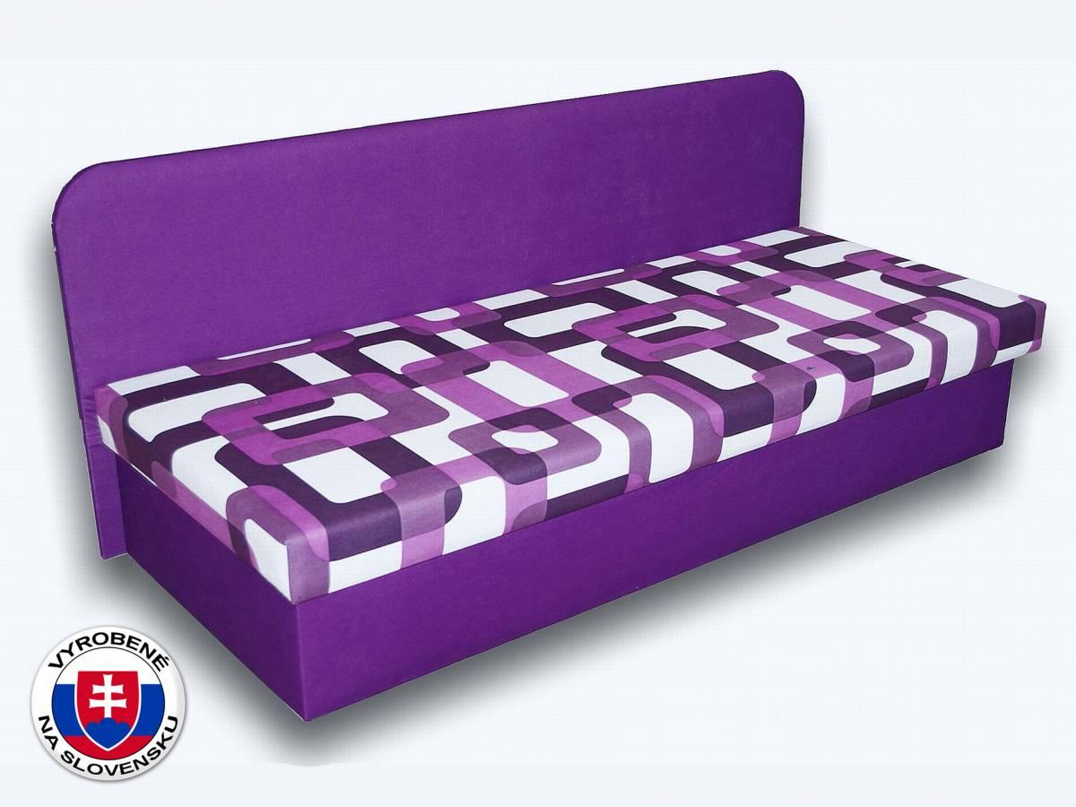 Jednolôžková posteľ (váľanda) 80 cm Lux IV (Fialová 49 + Gusto 10)