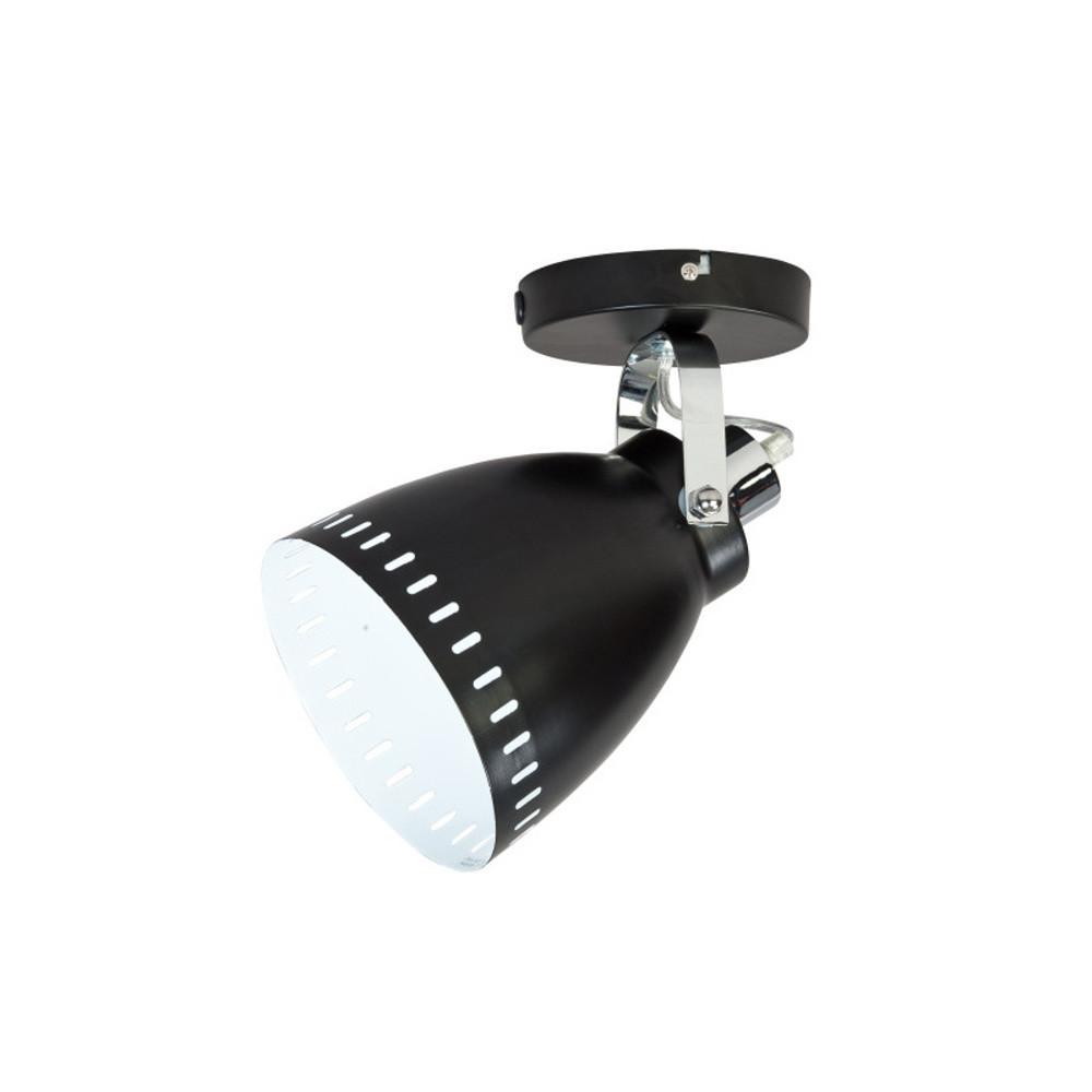 Čierna nástenná lampička ETH Acate