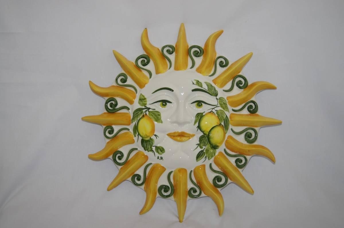 Keramické slnko na stenu LIMONE