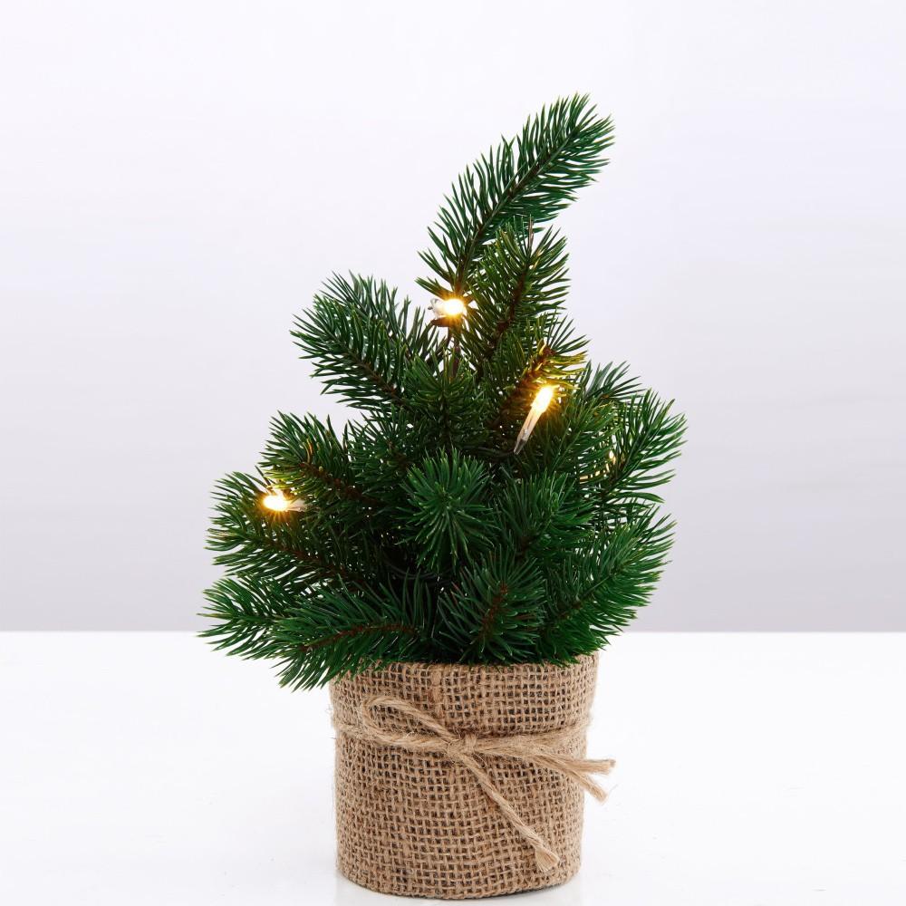 Umelý vianočný stromček s led svetlami Butlers, výška 30 cm