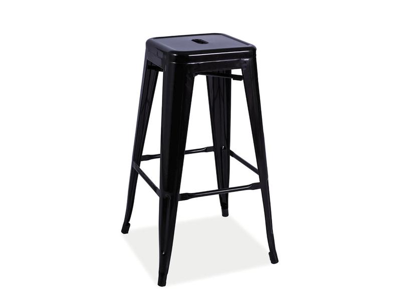 LANG barová stolička, čierna matná