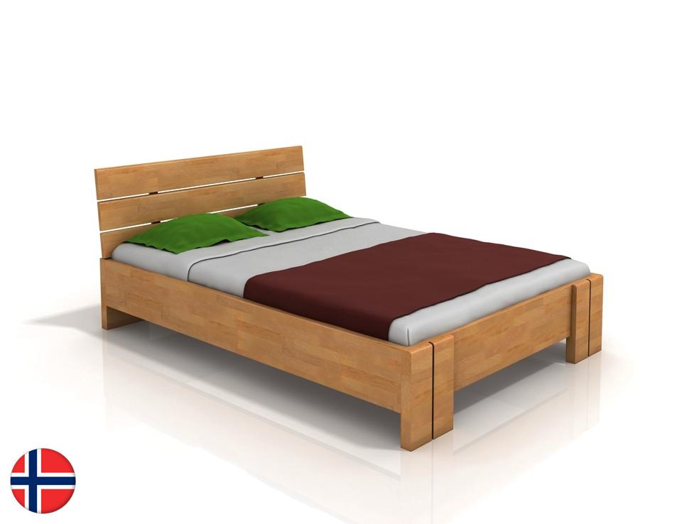 Manželská posteľ 200 cm Naturlig Tosen High (buk) (s roštom)