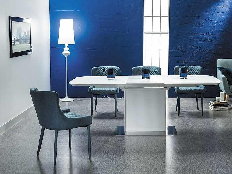 PRAHA jedálenský rozkladací stôl, biely