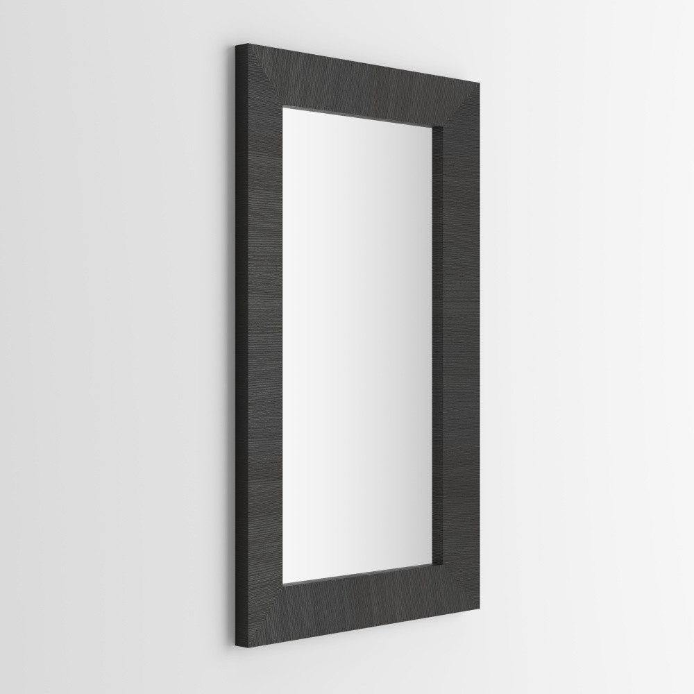 Zrkadlo v dekore čiernej borovice MobiliFiver Giuditta, 65x110cm