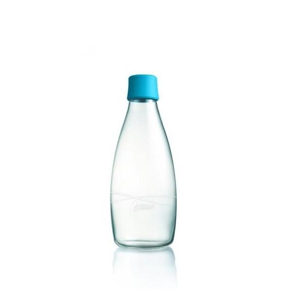 Svetlomodrá sklenená fľaša ReTap s doživotnou zárukou, 500ml