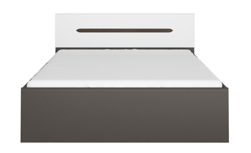 Manželská posteľ Elpasso LOZ/160   Farba: šedý wolfram / biela