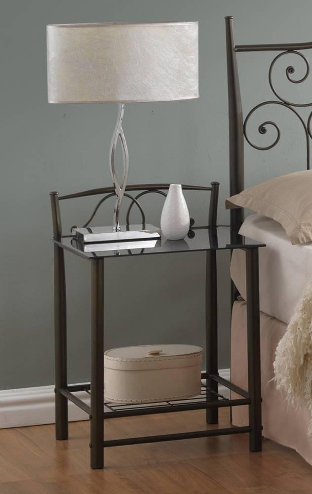VD-930 nočný stolík, čierny