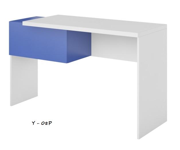 Detský písací stôl Yeti Y-08 P Farba: Biela / biela lesk / modrá