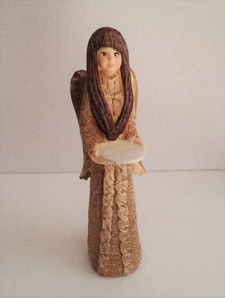 keramický anjel hnedý 31 cm