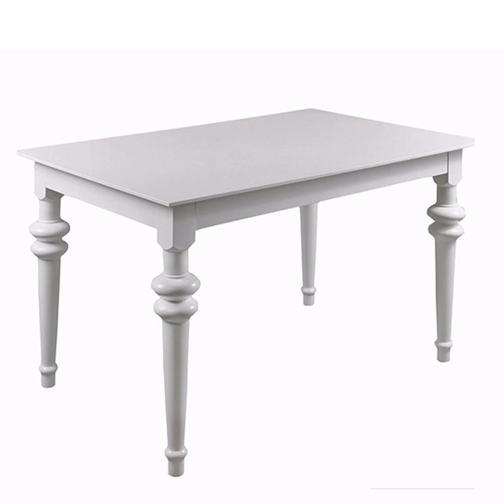 Biely rozkladací jedálenský stôl Durbas Style Torino, 190 x 95 cm