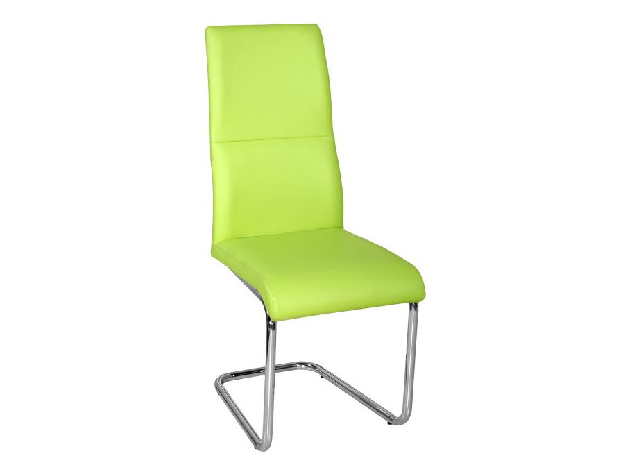 Jedálenská stolička Betina (zelená + chróm)