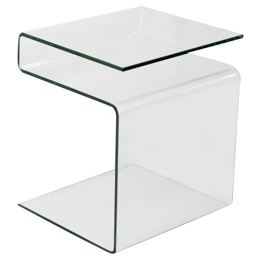 Sklenený odkladací stolík/stojan na časopisy Esidra Simple