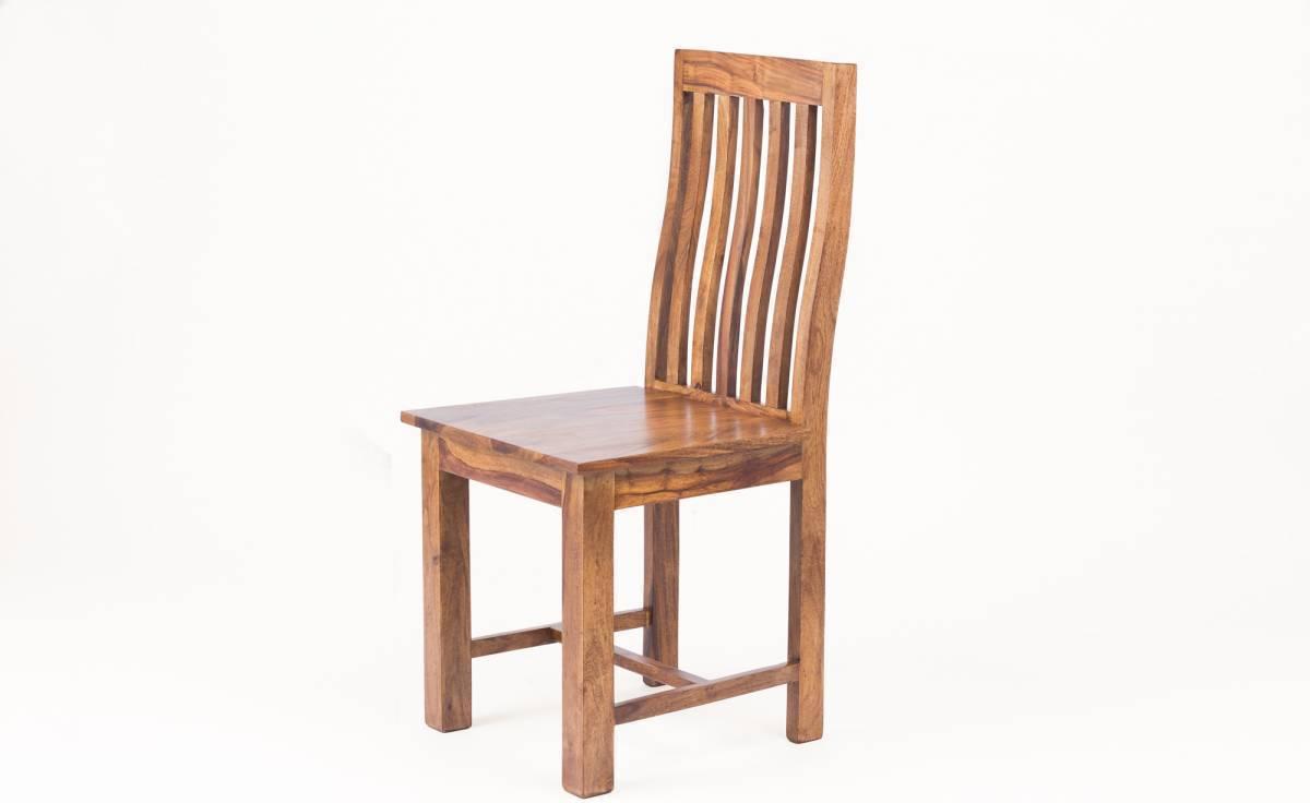 Masívna stolička MARAGOS - prírodná