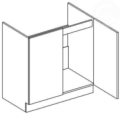 D80ZL dolná skrinka pod drez, vhodná ku kuchyni PREMIUM