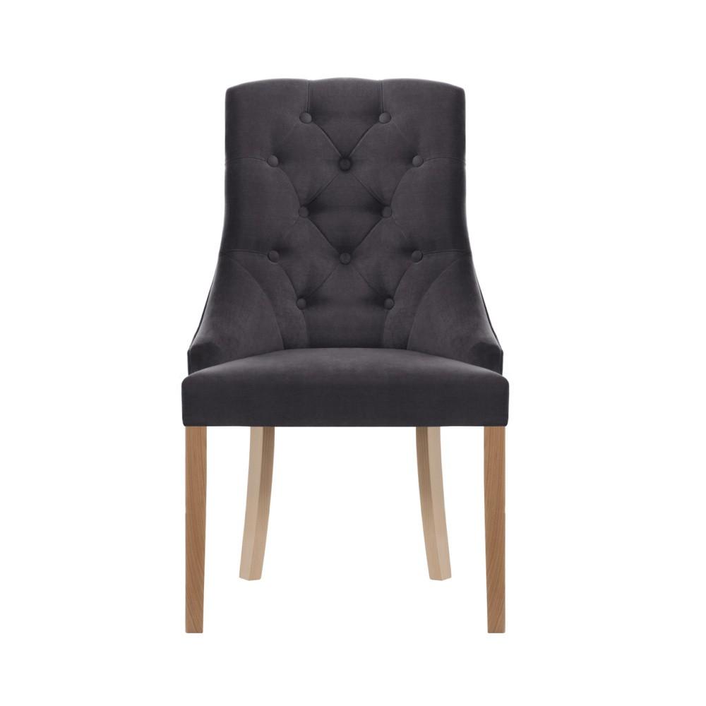 Antracitová stolička Jalouse Maison Chiara