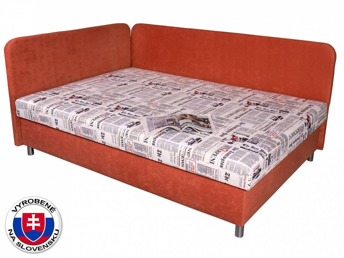 Manželská posteľ 140 cm Benab Hobby (s roštom, matracom a vankúšmi)