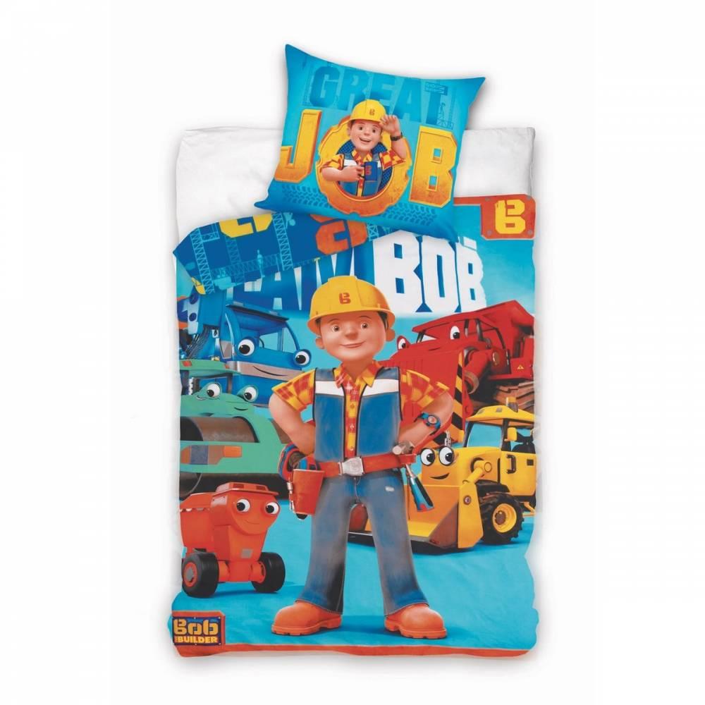Jerry Fabrics obliečky Bob staviteľ bavlna 140x200 70x90