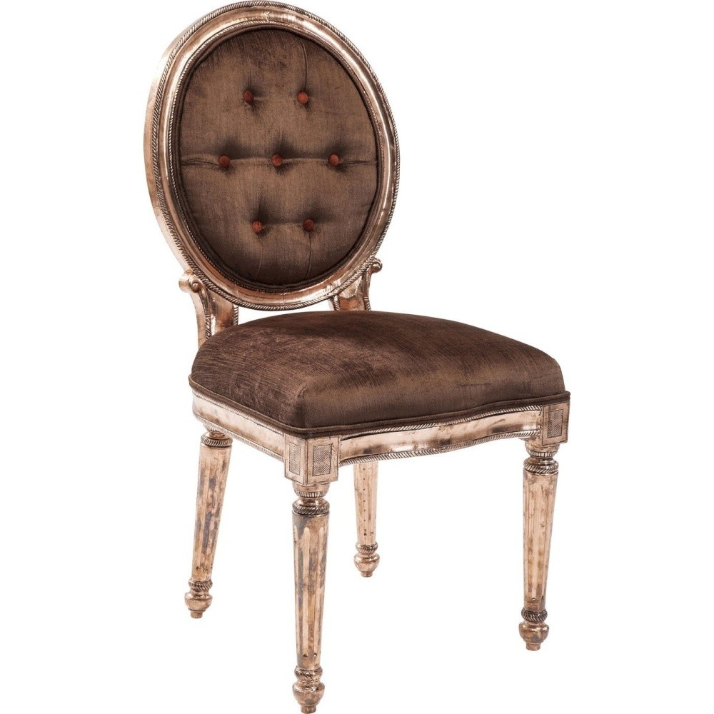 Hnedá stolička s rámom vo farbe medi Kare Design Louis