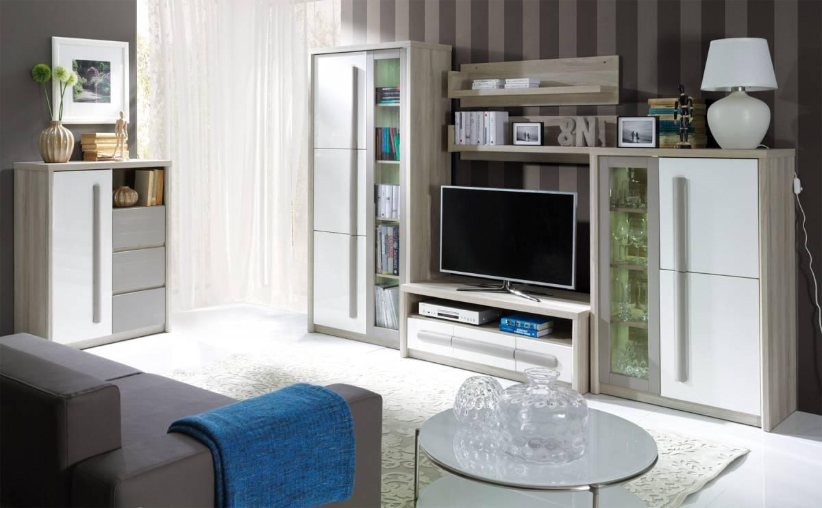 COMA  A obývacia stena s LED osvetlením