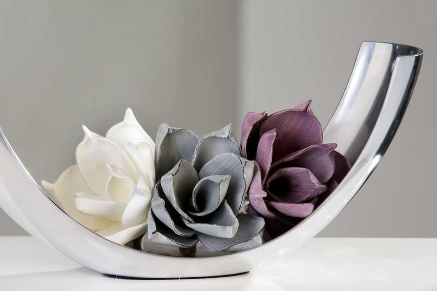 Bighome - Dekorácia do vázy kvet VERNALIS - biela