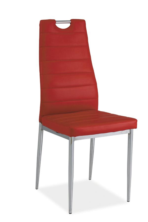 HK-260 jedálenská stolička, červená