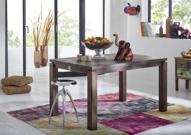 METRO POLIS #153 Sheesham jedálenský stôl 140x90, masívne palisandrové drevo